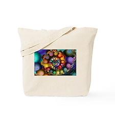 Textured Fractal Spiral Tote Bag