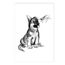 Puppy and Grasshopper Postcards (Package of 8)
