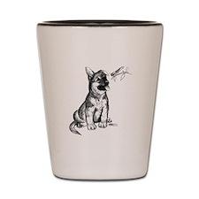 Puppy and Grasshopper Shot Glass