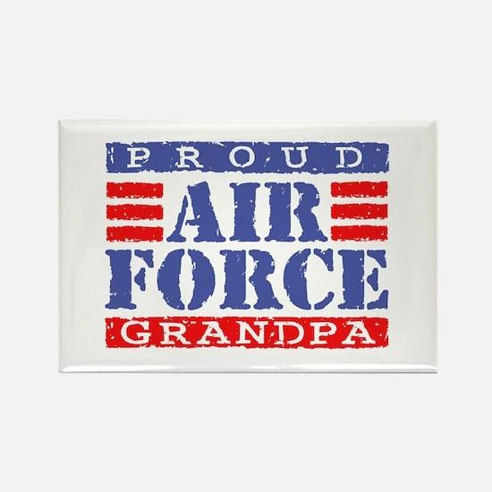 Proud Air Force Grandpa Rectangle Magnet