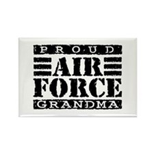 Proud Air Force Grandma Rectangle Magnet