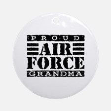 Proud Air Force Grandma Ornament (Round)