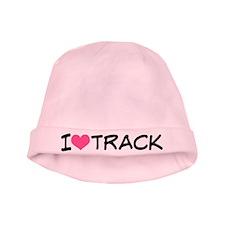I Heart Track baby hat