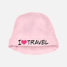 I Heart Travel baby hat