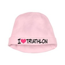 I Heart Triathlon baby hat