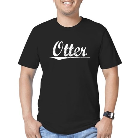 Otter, Vintage Men's Fitted T-Shirt (dark)