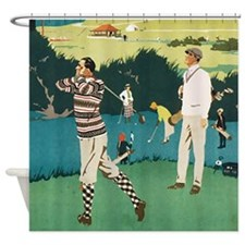 Vintage Golf Ball Shower Curtain