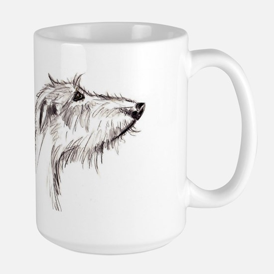 Scruffy Lurcher Large Mug
