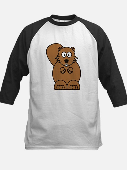 Front facing beaver Kids Baseball Jersey