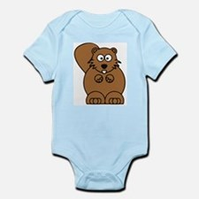 Front facing beaver Infant Bodysuit