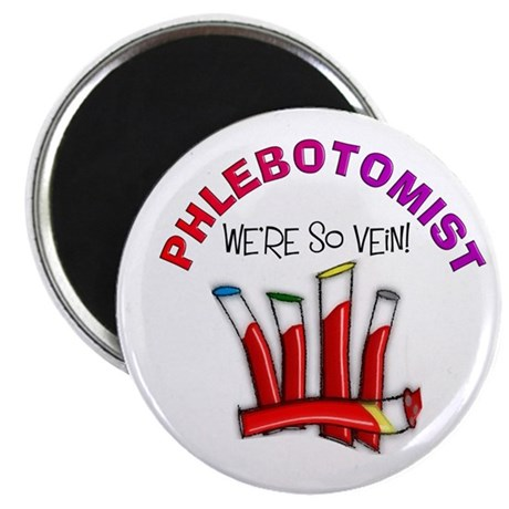 "phlebotomist were so vein.PNG 2.25"" Magnet (10 pac"