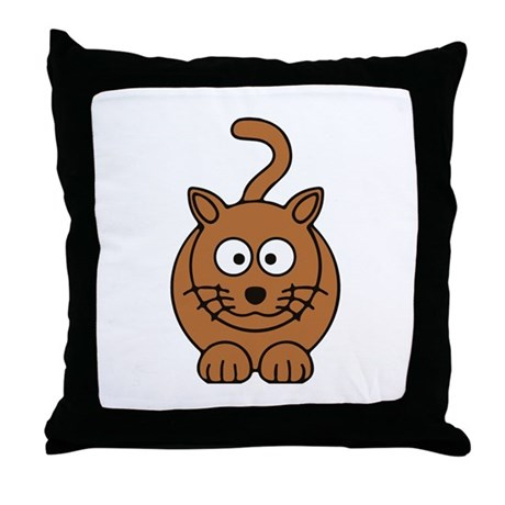 Front facing Cat Throw Pillow