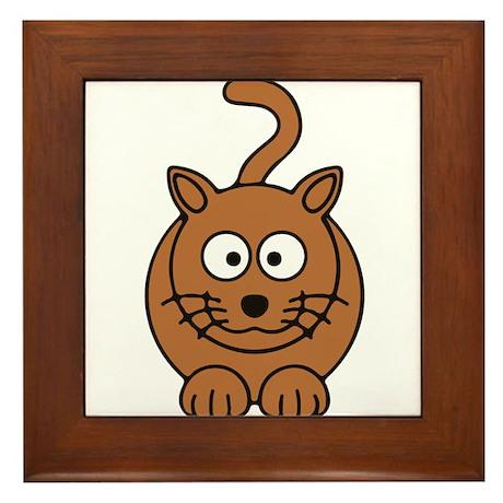 Front facing Cat Framed Tile