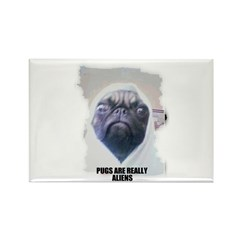 PUGS ARE REALLY ALIENS Rectangle Magnet (100 pack)