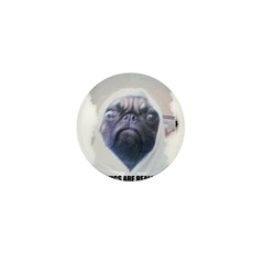 PUGS ARE REALLY ALIENS Mini Button (100 pack)