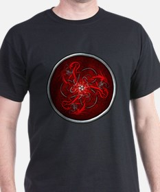 Red Triple Celtic Dragons T-Shirt