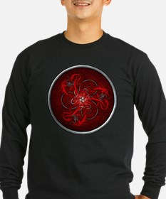 Red Triple Celtic Dragons T