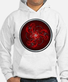 Red Triple Celtic Dragons Hoodie