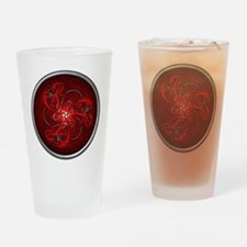Red Triple Celtic Dragons Drinking Glass