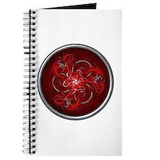Red Triple Celtic Dragons Journal