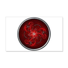 Red Triple Celtic Dragons Wall Decal