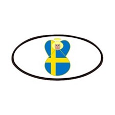 Small Swedish Flag Angel Blonde Hair Patches