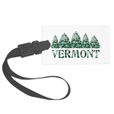 VT Winter Evergreens Luggage Tag