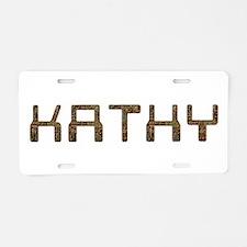 Kathy Circuit Aluminum License Plate