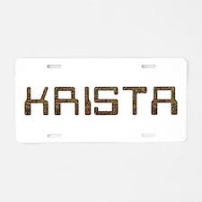 Krista Circuit Aluminum License Plate