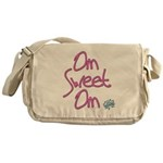 Om Sweet Om (Pink with Lotus) Messenger Bag
