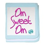 Om Sweet Om (Pink with Lotus) baby blanket