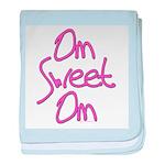 Om Sweet Om (Pink) baby blanket