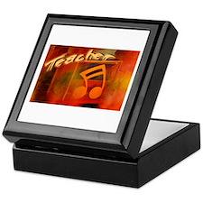 """Music Teacher Orange"" Keepsake Box"