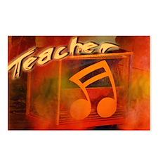 """Music Teacher Orange"" Postcards (Package of 8)"