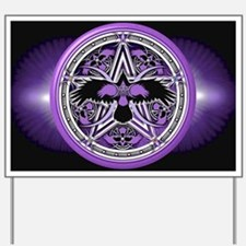 Purple Crow Pentacle Yard Sign