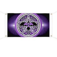 Purple Crow Pentacle Banner