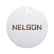 Nelson Circuit Round Ornament