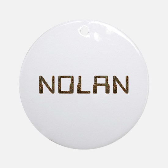 Nolan Circuit Round Ornament