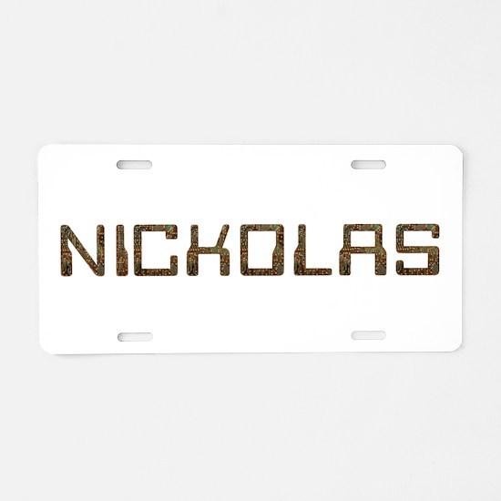 Nickolas Circuit Aluminum License Plate