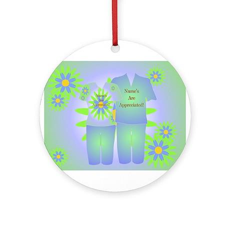 Nurse Appreciation Scrubs Ornament (Round)