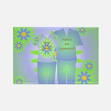 Nurse Appreciation Scrubs Rectangle Magnet (10 pac