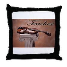 """""""Music Teacher Violin"""" Throw Pillow"""