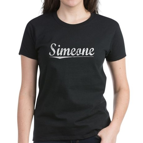 Simeone, Vintage Women's Dark T-Shirt