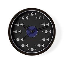 Math Clock Wall Clock