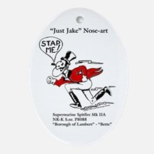 Just Jake Noseart Ornament (Oval)