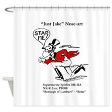 Just Jake Noseart Shower Curtain