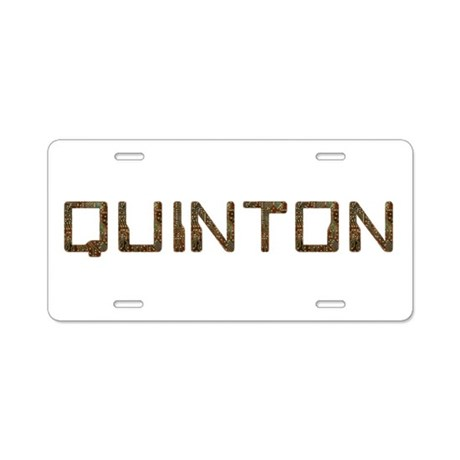 Quinton Circuit Aluminum License Plate