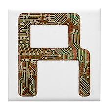 R Circuit Tile Coaster