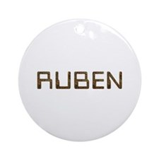 Ruben Circuit Round Ornament