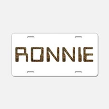 Ronnie Circuit Aluminum License Plate